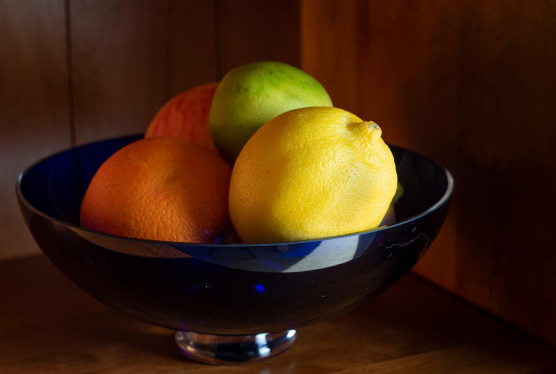 Fruit bowl at sunrise