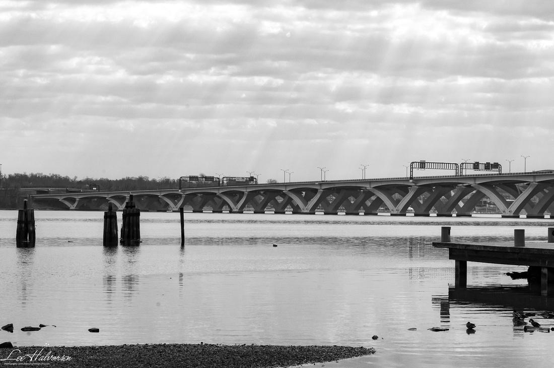 Wilson Bridge and Streaming Sunlight
