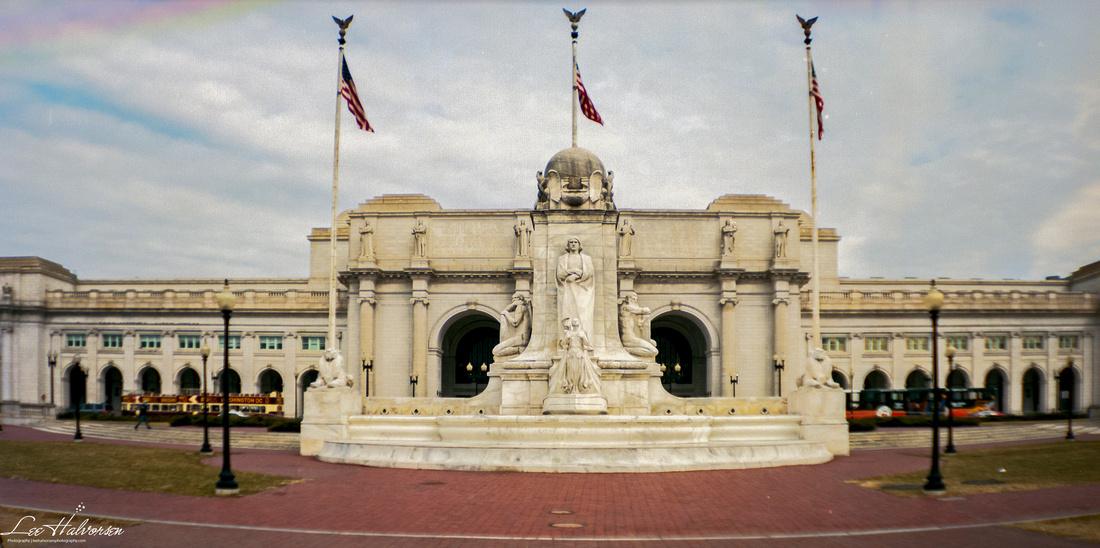 Union Station, Washington, DC taken with a Lomography 6x12 Medium Format
