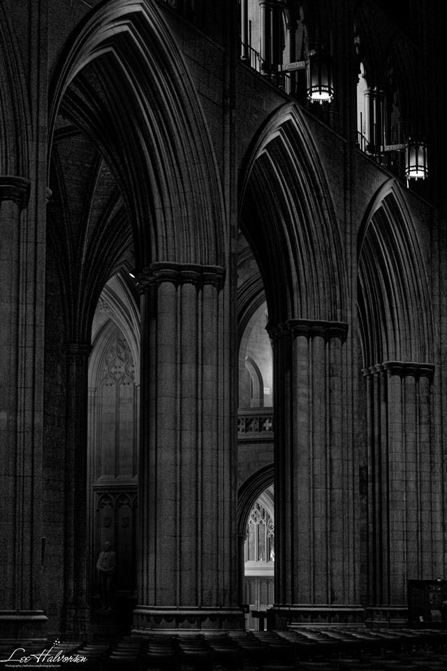 Late evening in the National Cathedral.
