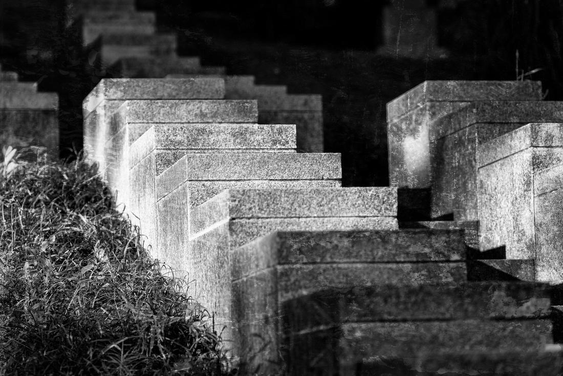 Stairway in Oak Hill Cemetery in DC.