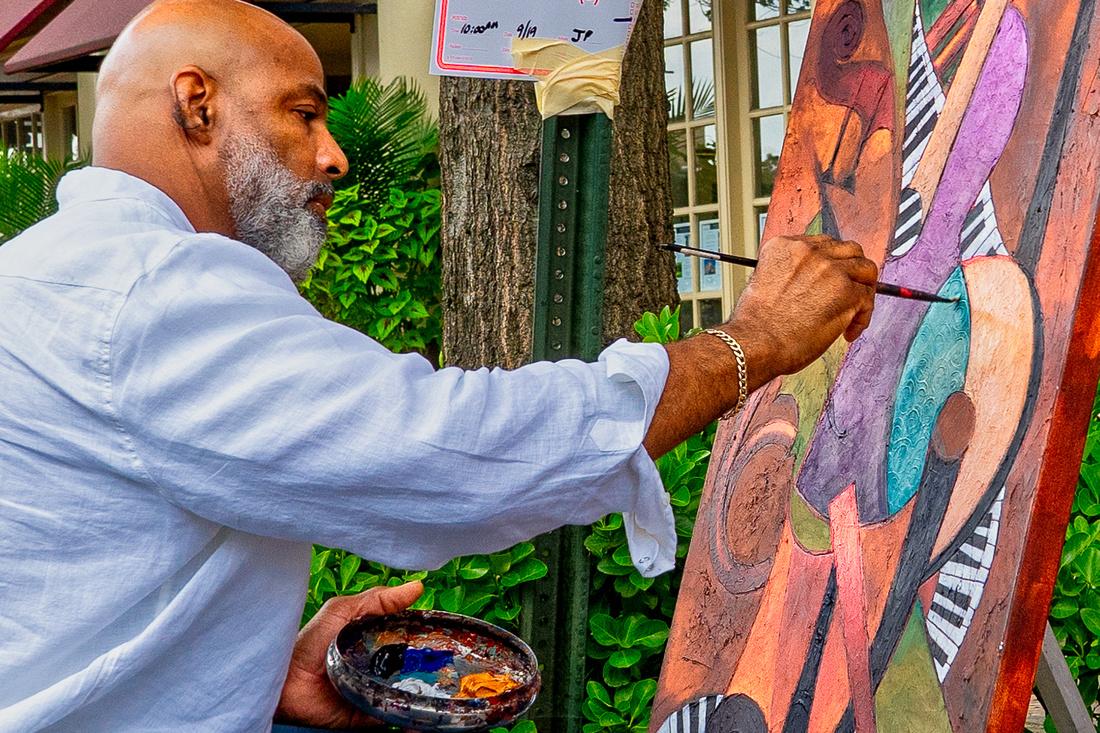 Artist Painting in Old Town Alexandria, VA