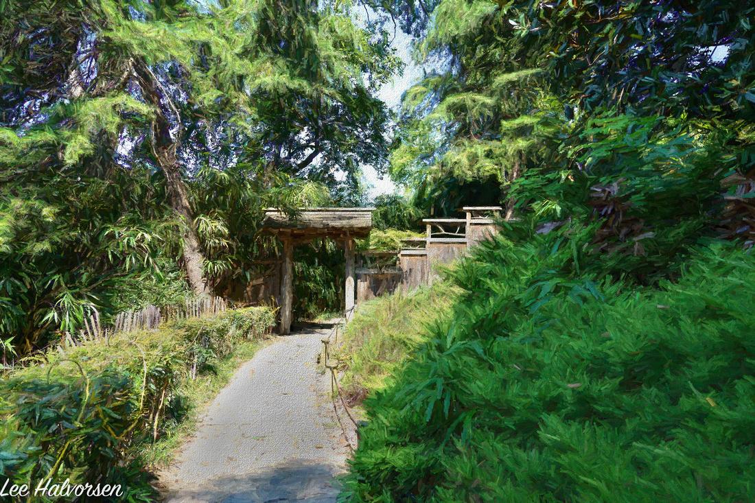 Gateway to Japanese gardens at Maymon