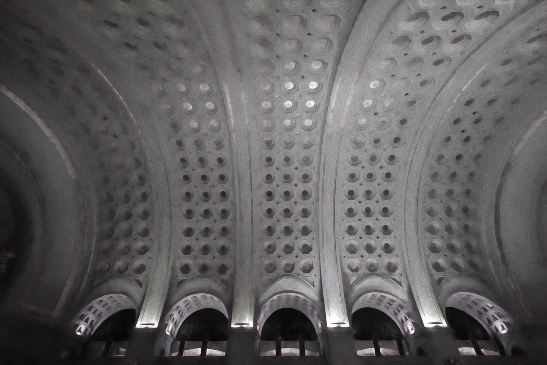 Washington DC Union Station Ceiling in the main area of the terminal