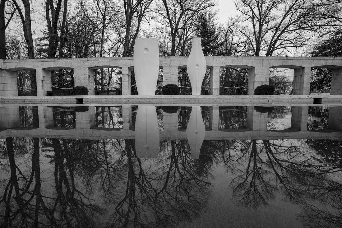 Reflecting pond at the Kreeger Museum