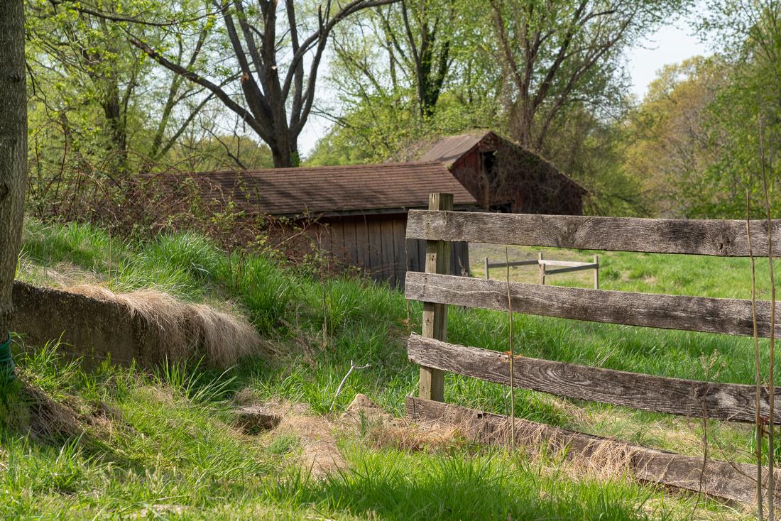 Barns and sheds at Oxon Hill Farm