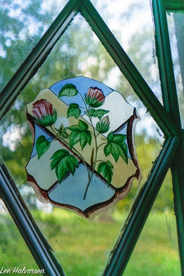 St Emma Hand Painted Dining Room Window