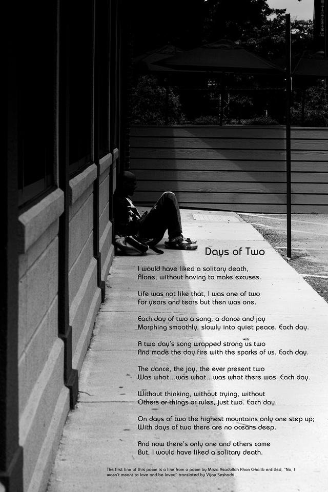 """Poem, """"Days of Two"""""""
