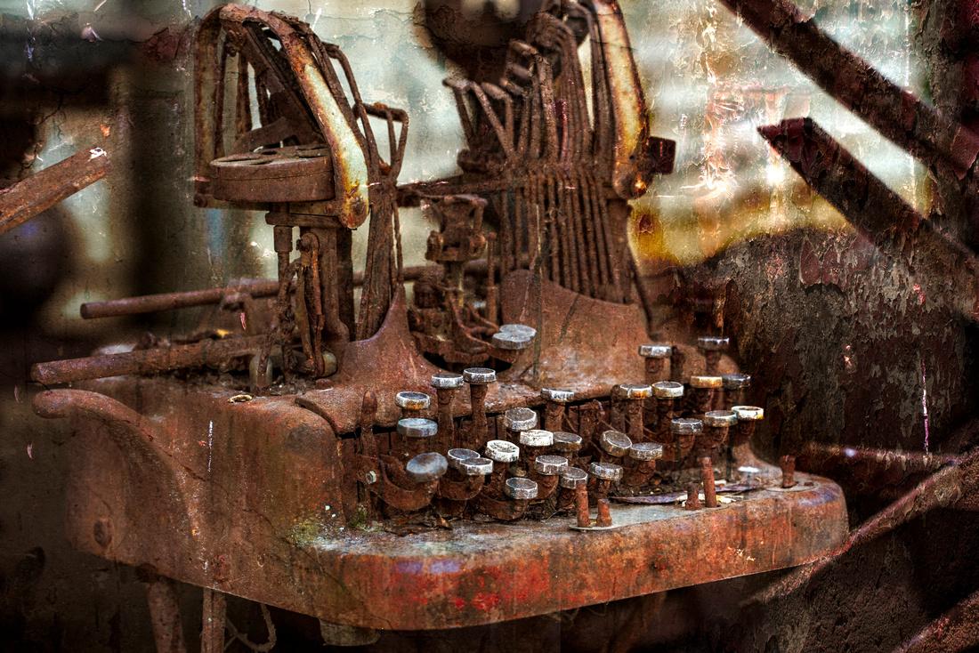 Old Typewriter Wasting Away in Asheville
