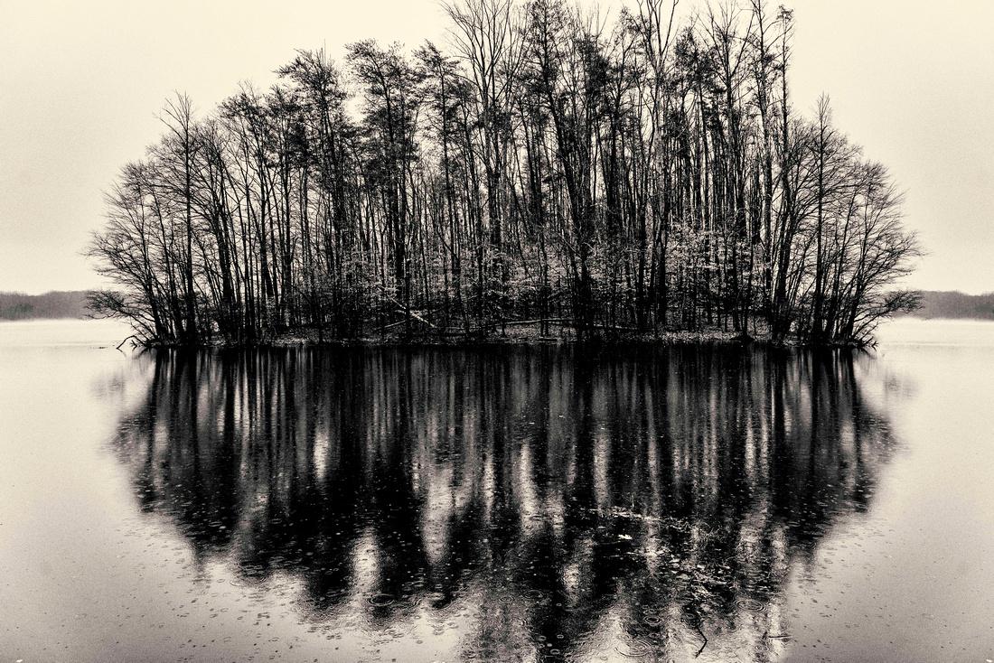 Mythical Island on Burke Lake
