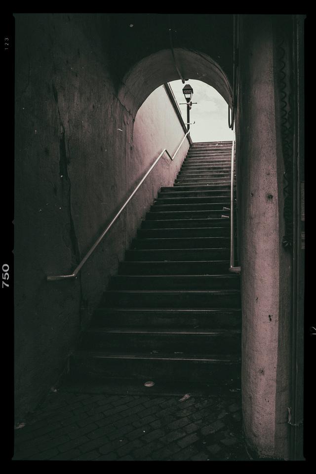 Haunted Stairwell under the railroad bridge?
