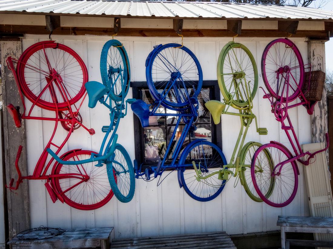 Bike Fun at Lucketts Store