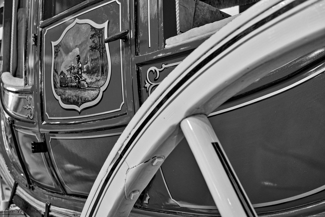 Stage Coach with train detail on door