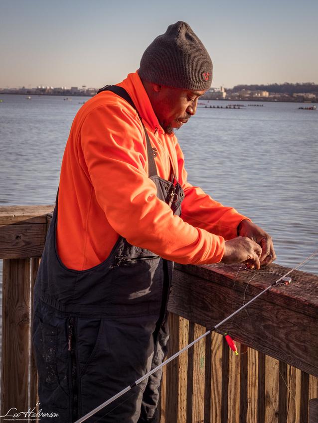 Tim fishing in the Potomac